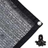 Agfabric 40% Sunblock Shade Cloth with Grommets for Garden Patio 20' X 24', Black