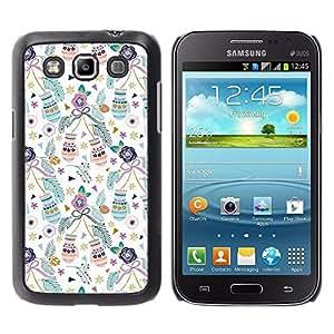 Navidad mitones de Navidad Vacaciones Trullo - Metal de aluminio y de plástico duro Caja del teléfono - Negro - Samsung Galaxy Win I8550