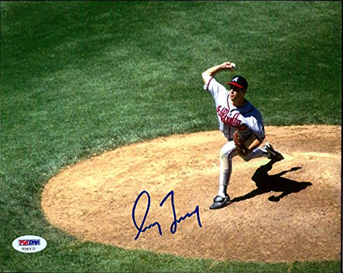 GREG MADDUX AUTOGRAPHED 8X10 PHOTO ATLANTA BRAVES PSA/DNA STOCK #72649