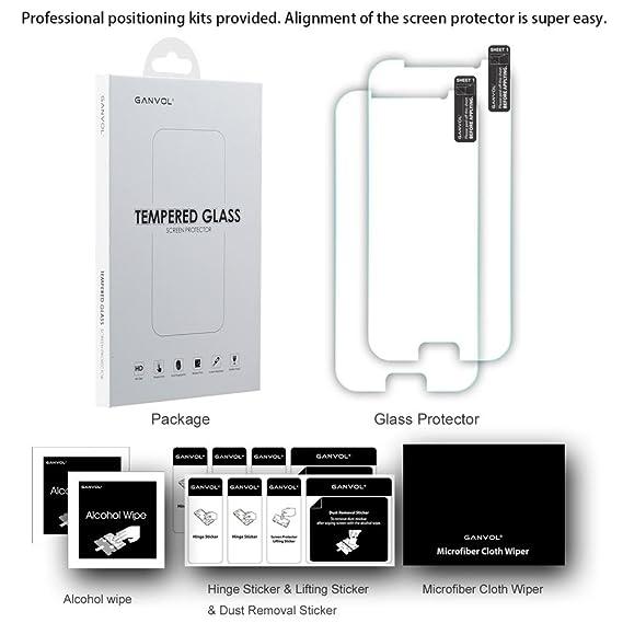 Ganvol (2 Pack Protectores de Premium Protector de Pantalla de Cristal Templado para Samsung Galaxy S6/S6 Duos/S6 Duo Sim: Amazon.es: Electrónica