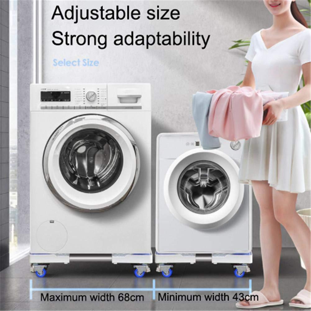 Waschmaschine und K/ühlschrank 1600g mooderff Waschmaschine Sockel Untergestell f/ür K/ühlschrank Verstellbare Sockel mit 4 Set Gummi-Schwenkr/äder f/ür Trockner
