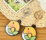 Yingealy Childrens Mirror Mini Chicken Shape Cartoon Small Glass Mirrors for Crafts Decoration Cosmetic Accessory
