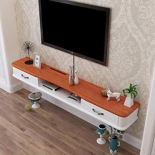 Estante flotante de madera maciza para colgar en la pared de la TV ...