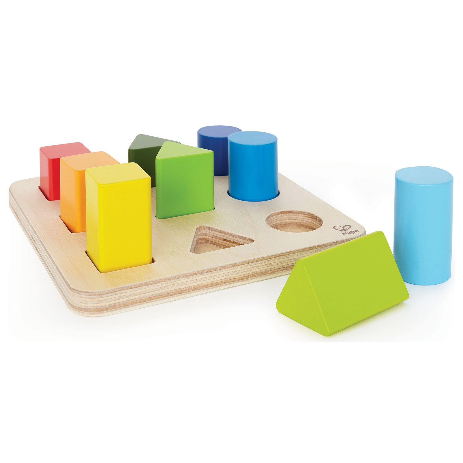 Hape Color and Shape Wooden Block Sorter by Hape (Image #1)