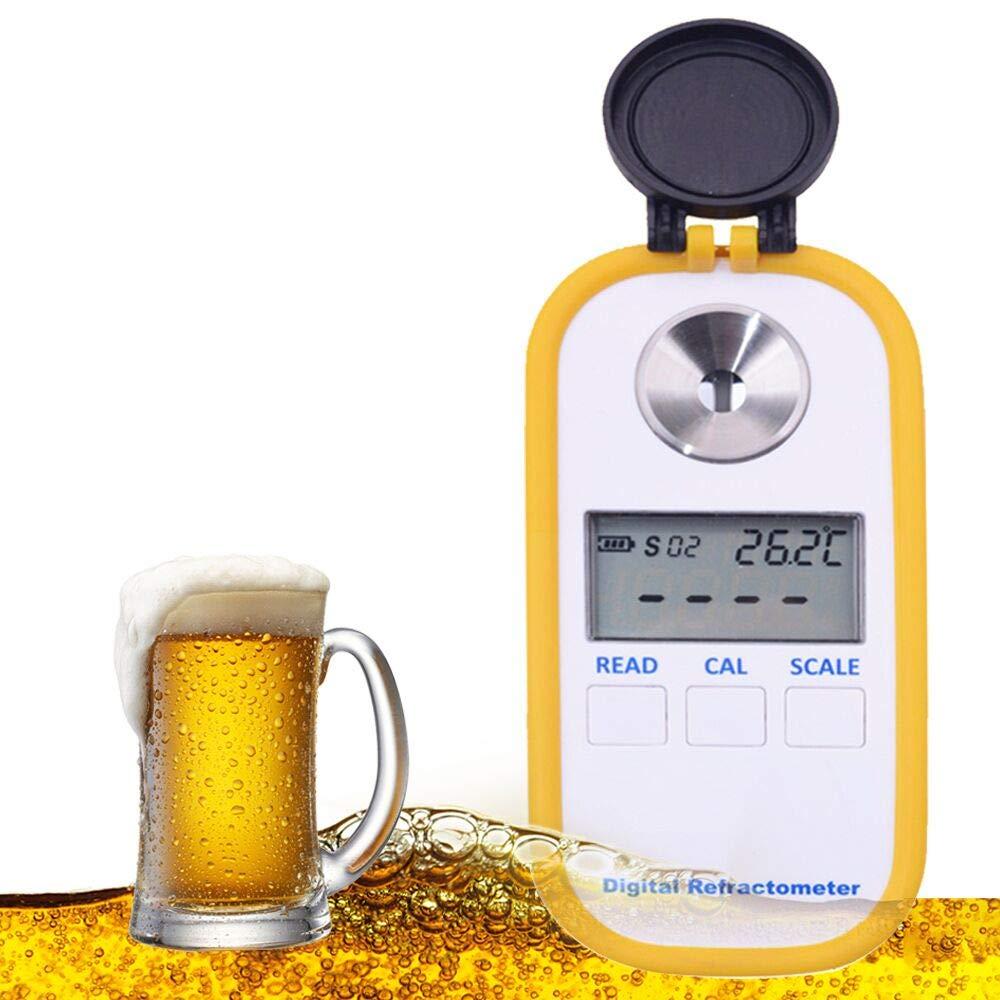 Refractómetro de Gusanos de Cerveza 0 a 50% con 1000 a 1.130 SG