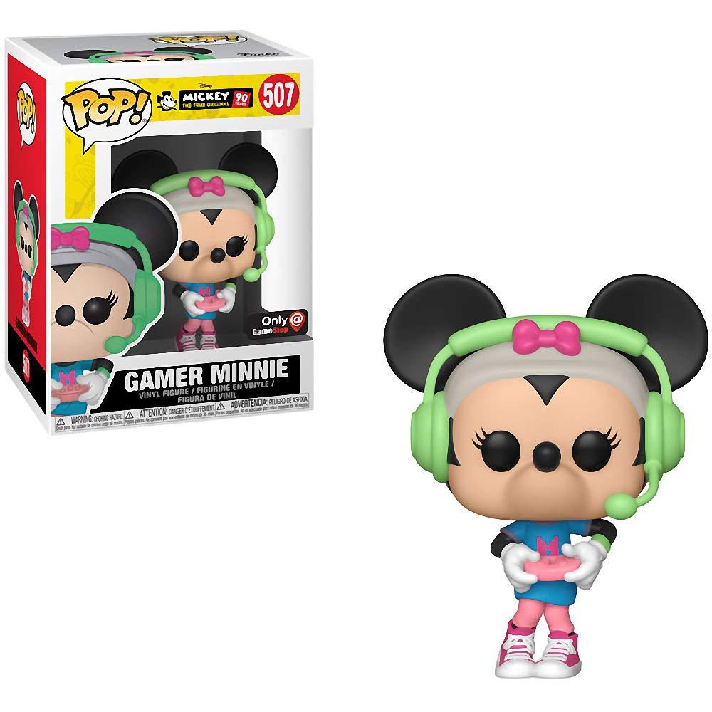 Funko ゲーマーミッキー(ゲームストップ限定): ミッキーの90周年記念 x POP! ディズニー ビニールフィギュア & 1 POP! 互換PETプラスチックグラフィックプロテクターバンドル[#507 / 37004 - B] B07N7MPMN3