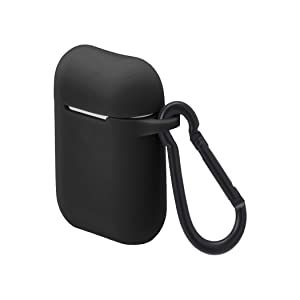 AmazonBasics Premium AirPods Case - Compatible with Apple AirPods 1 & 2, Black