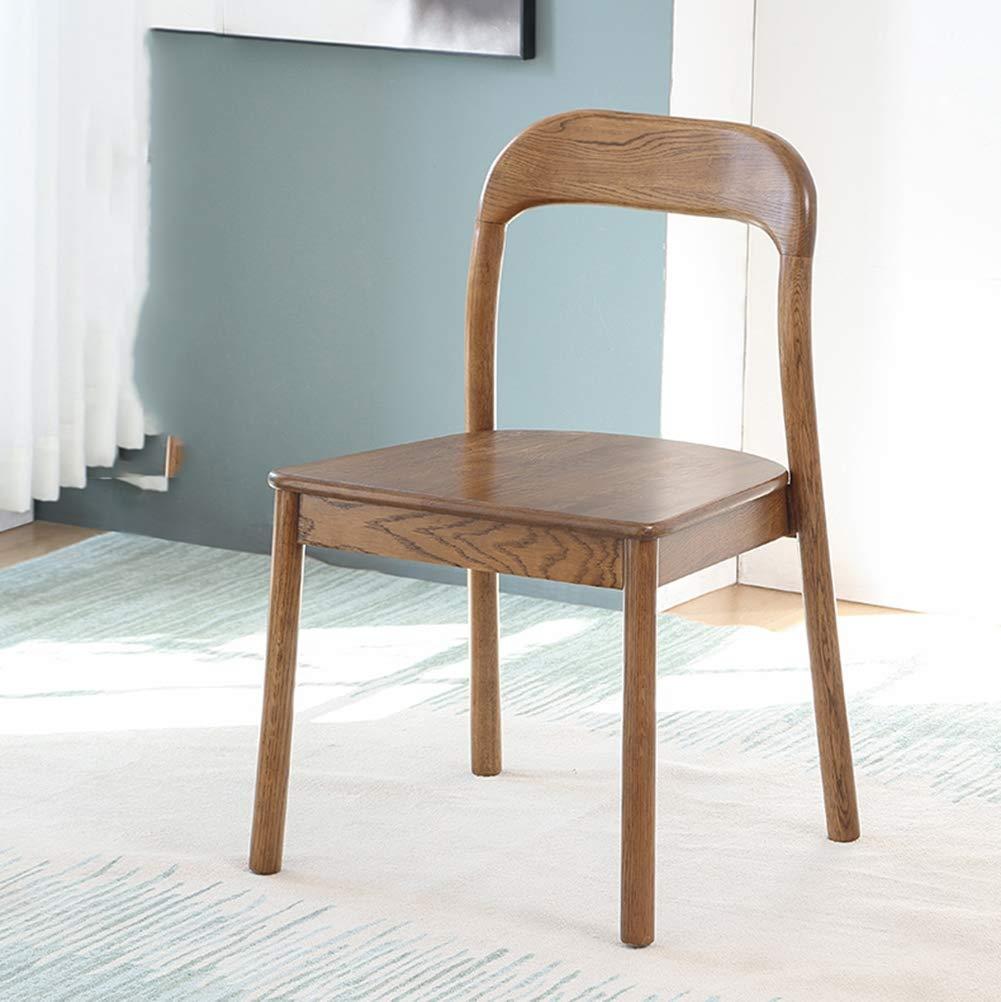 ダイニングチェア、シンプルでモダンなオーククルミレストランシートデスク椅子木製椅子無垢材オープン環境保護スプレーを作成するには   B07MCYY8WK