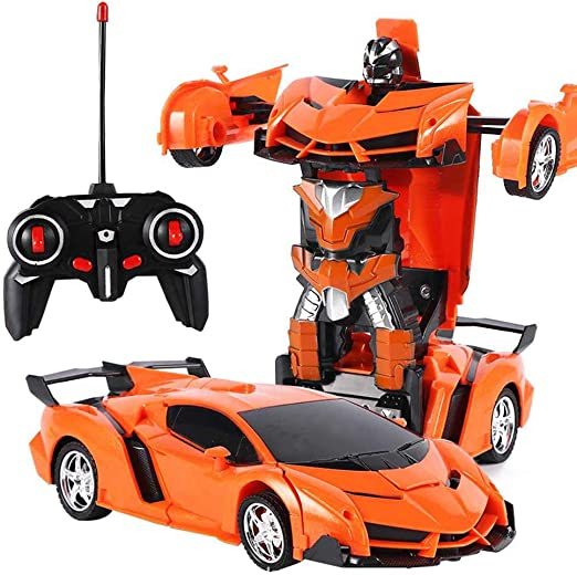 Kids Electric RC Robot Toy Led Lights Remote Control Car Toys for Kids Gift New