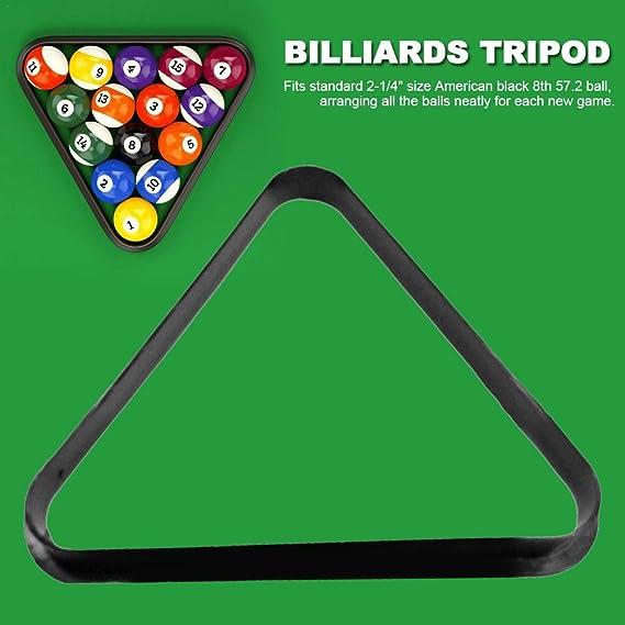 PITCHBLA Trípode de bolas Bola de trípode Soporte de bola oscilante con bordes redondeados reforzados Marco de bola triangular Accesorios de caja de bolas de billar Mini bolas de mesa de billar: