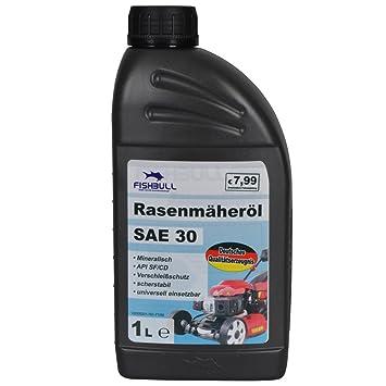 rasenmäheröl 1L sae30 W Mineral Cortacésped motorenöl aceite Lubricación: Amazon.es: Jardín