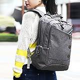Kingslong 15.6 Inch Laptop Backpack Bag Durable Linen Large Capacity Casual Daypack (gray)