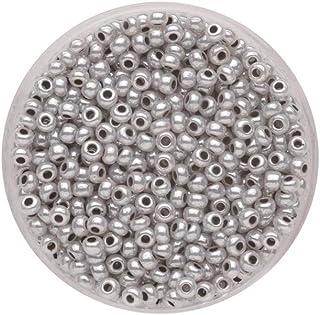 Glas 4 x 4 x 1.5 cm 17 g Grau GLOREX Rocailles 2,6 mm