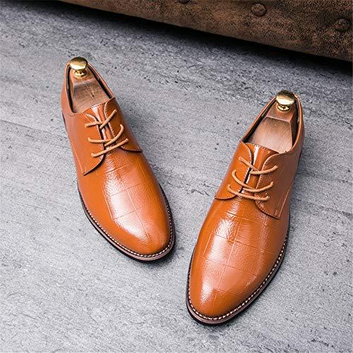lavoro Xujw Giallo Dimensione shoes Scarpe Nero Punte da Basse Business traspiranti Oxford le da Color con 43 2018 scarpe casual EU Trend Stringate uomo gxOq4gAw