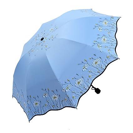 Ai-life Mini Paraguas Compacto Plegable De Viaje(patrón de girasol), Ultraligero