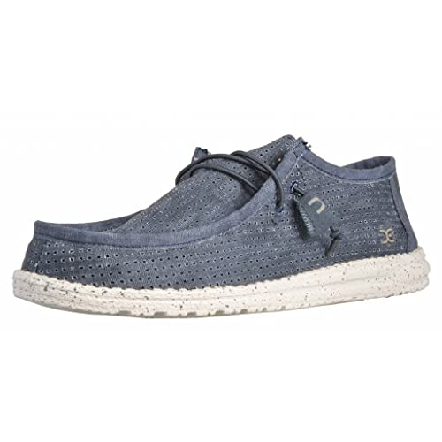 Dude Shoes Dude Wally Perforated Navy UK6 / EU40