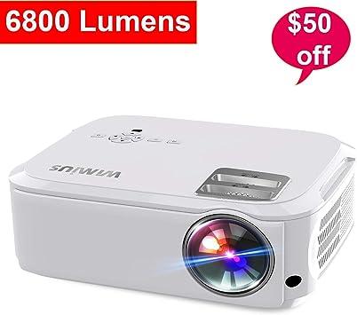WiMiUS - Proyector Nativo de 6500 lúmenes, 1080 P, Compatible con ...