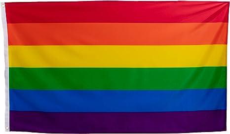 esvendio Bandera LGTB Grande de Tela Fuerte, Bandera Gay para Exterior 150x90 cm: Amazon.es: Jardín
