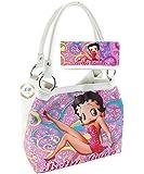 Betty Boop Handbag and Wallet Set, Pink, Plus Keychain, BP2083PK-SET