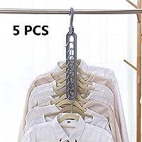 Topcosplay 5 PCS Perchas de Armario para Ahorro