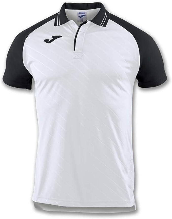 Joma Polo Torneo II Blanco-Negro M/C - Polo Deportivo, Unisex ...