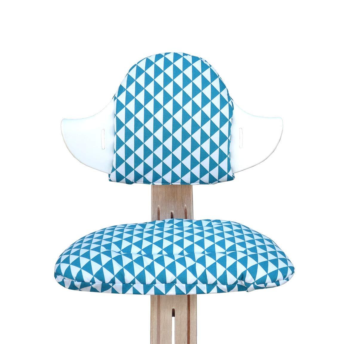 Sitzkissen Set f/ür Nomi Hochstuhl von Evomove Blausberg Baby Sailor Grau