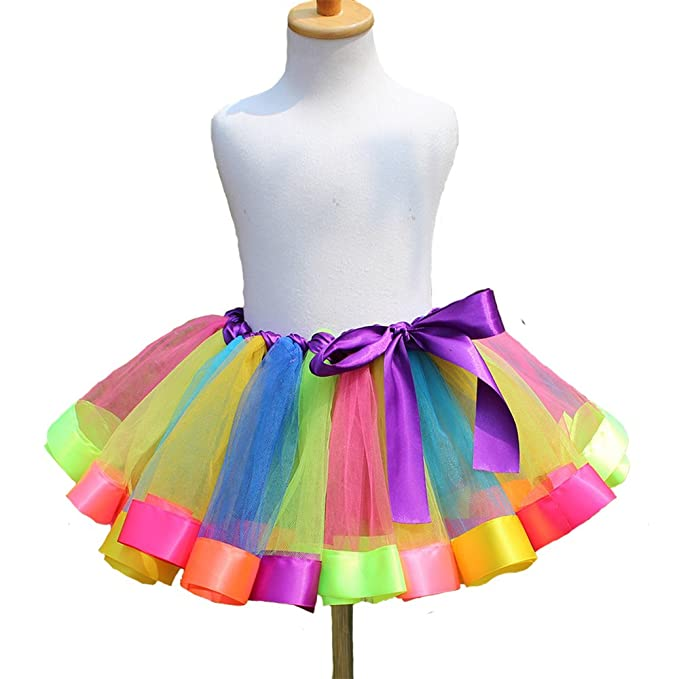 07b1fa3c80 CJ Fashion Girls Tulle Rainbow Tutu Skirt for Baby/Toddler Girl Birthday  Party Pettiskirt: Amazon.ca: Clothing & Accessories
