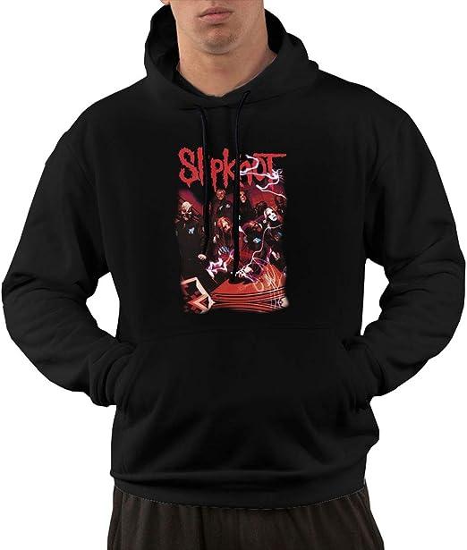 TIANBA Fashion Slipknot Heavy Metal Sweatshirt for Men Black