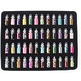 Le Fu Li 48 Bottles/Lot DIY Nail Art Charms Kit Contain Random Nail Art Pearl Sequin Nail Glitter Powder Acrylic Rhinestone