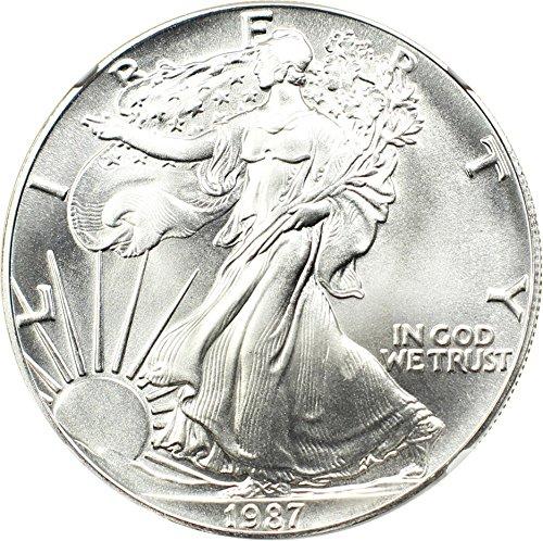 1987 P $1 American Eagles - Silver Silver Eagle Dollar MS70 NGC (1987 Dollar Silver)