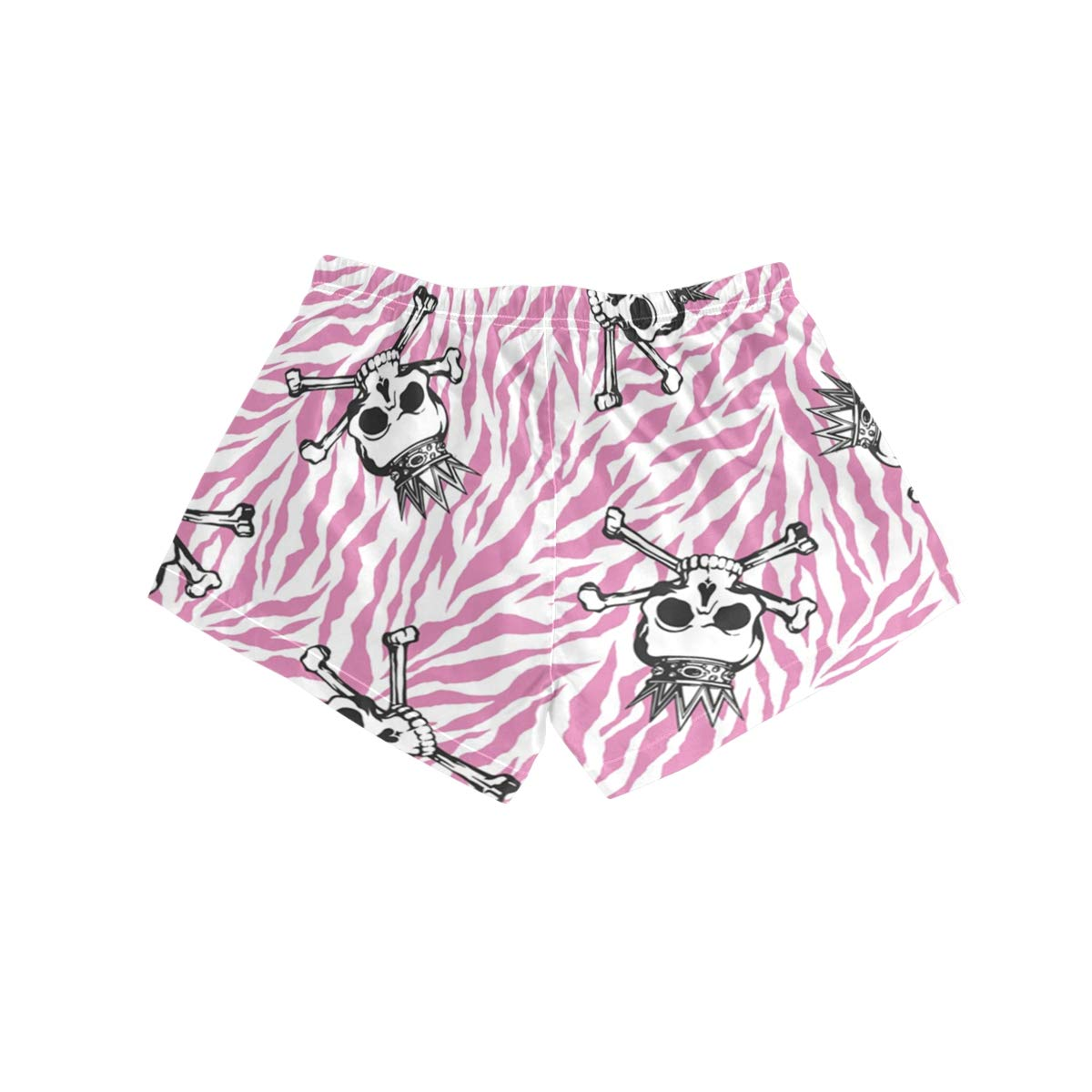 Pink Skull Pattern Lttedeng Womens Print Beach Shorts with Pockets Quick Dry Boardshort Swimming Trunks Tropical Short