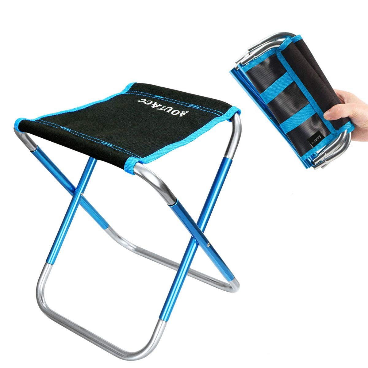 Compact Traveling Foot Stool Folding Camping Stool Lightweight /& Portable Sturdy Chair for Picnic Camping Hiking Backpacking
