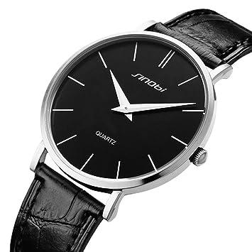 KOBWA Relojes Minimalistas para Hombre, Clásicos Negocios Casuales Impermeable Reloj de Cuarzo para Hombre con