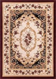 Well Woven Dulcet Versaille Black Traditional Area Rug 3'3'' X 5'