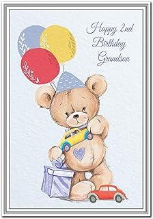 Happy 2nd Birthday Grandson Card