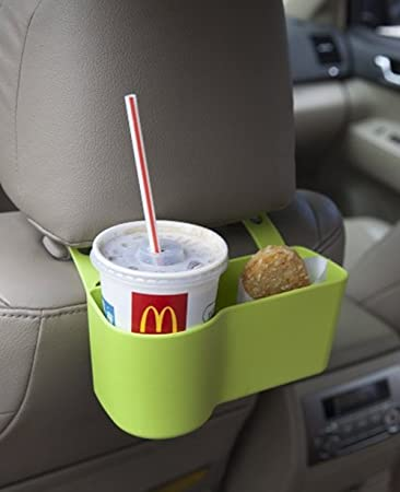 American Trends Auto Back Car Seat Cup Drink Food Tray Holder For Kids Storage Green
