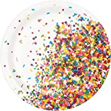 Creative Converting 324662 96 Count Sturdy Style Dessert/Small Paper Plates, Sprinkles