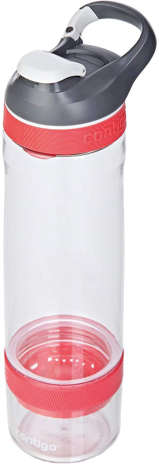 Contigo Cortland Infuser Autoseal Water Bottle, Large BPA Free Drinking Bottle with Fruit Infuser, Leakproof Gym Water Bottle, Ideal for Sports, Watermelon, 770 ml