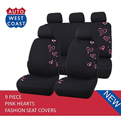 West Coast Auto Car Seat Covers Set For Cars Trucks Vans SUV