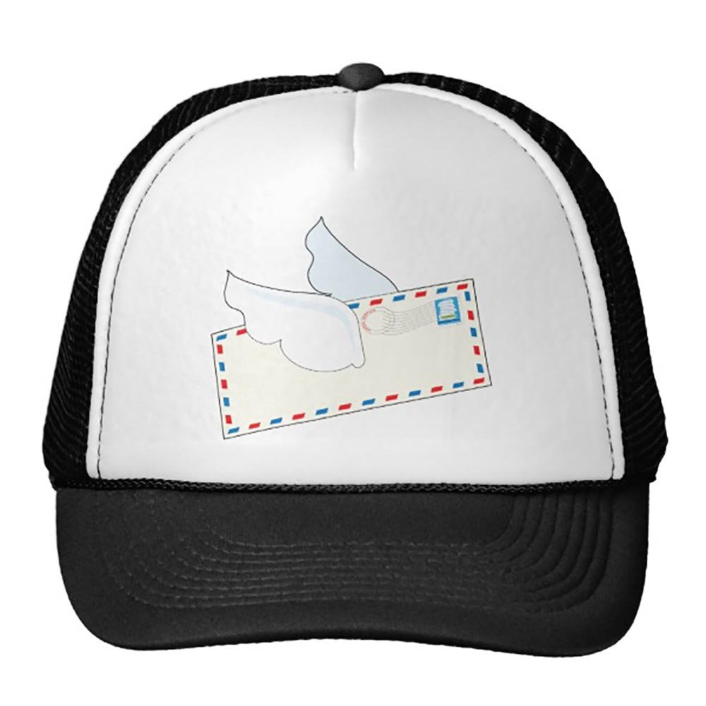 Goodaily Letter with Wings Trucker Hat Black
