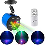 Luces de discoteca, 3 lentes de fiesta láser Dj escenario luces estroboscópicas efecto de proyector, activadas por sonido con