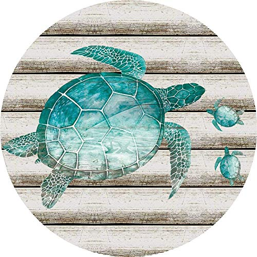 Ceramic Coaster Set of 4,Absorbent Stone Coasters for Cold Drinks Coffee Mug Glass Cup Place Mats (Sea Turtle)