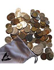 World Coins Grab Bag by Vx Investments . 1 Pound of Unsearched Foreign Coins With Atleast 1 Silver Coin In a Vx Investments Pouch