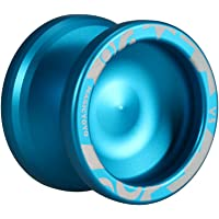 Magic Yoyo V3 Responsive speed aluminum alloy Yo-yo CNC Lathe with Spinning String for Boys Girls Children Kids Blue