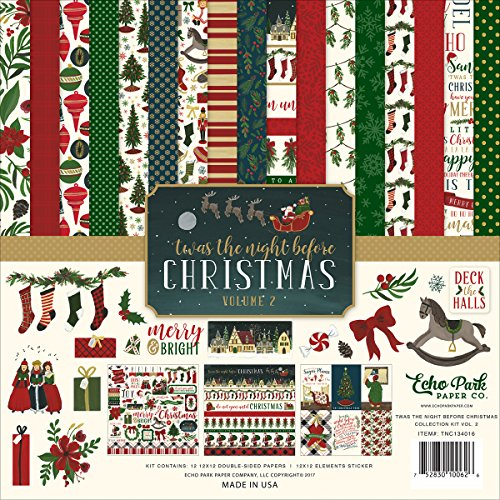 Echo Park Paper Company Night Before Christmas Collection Kit Vol. 2