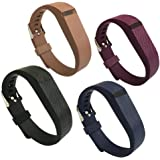 4PCS Fitbit Flex Band,Silicone Replacement Wristband for Fitbit Flex Bracelet Sport Bands with Metal Watch Band Buckle Large/Small