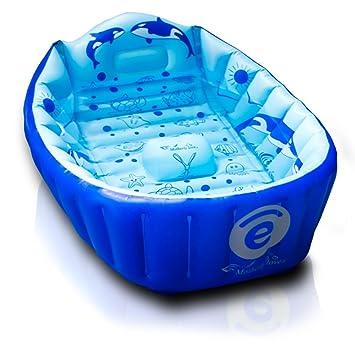 Amazon.com: funtub antideslizante Infant Tub, inflable Viaje ...