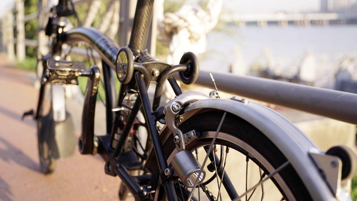 NovR-- Juego de guardabarros de titanio dorado para bicicleta plegable Brompton - Dino Kiddo: Amazon.es: Deportes y aire libre