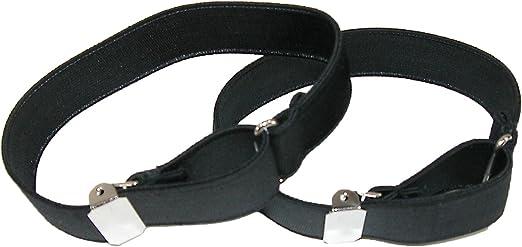 New CTM Satin Elastic Solid Color Adjustable Armband Sleeve Garter