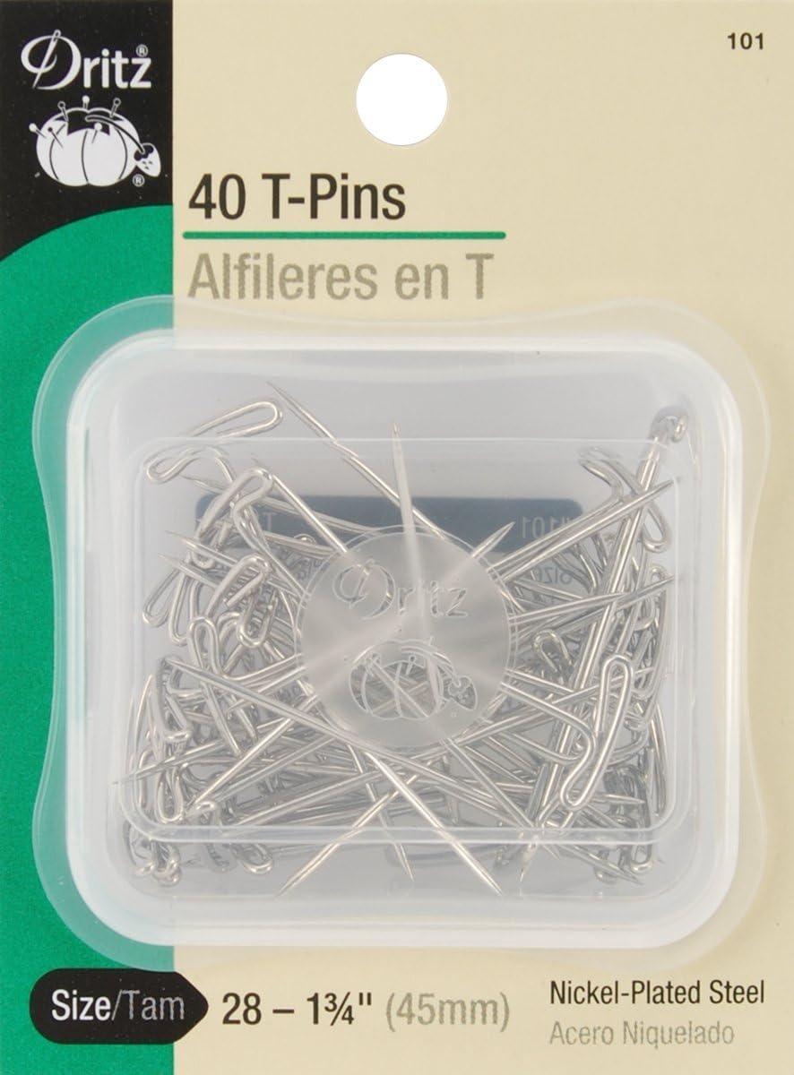 Dritz 40-Piece T Pins 1-3//4-Inch